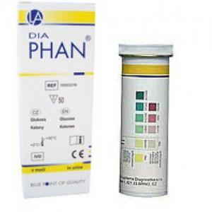 Diaphan vizelet tesztcsík 50x (glükóz, keton)