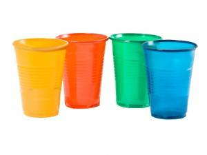 Műanyag pohár, 2dl, színes