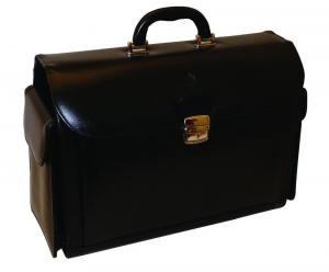 orvosi táska bőr hengeres fekete N-445  b36074a8d1